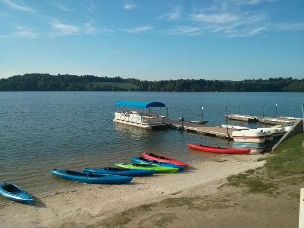 Marsh Creek State Park Boat Launch, Chester County, Pennsylvania — by Clare Hirai. Rent kayaks, sups, sailboats