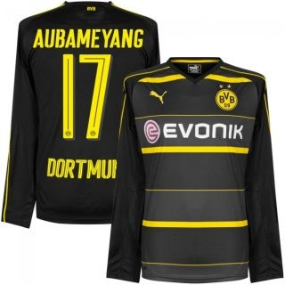 5a7ed77d86c ... Dortmund Pierre-Emerick Aubameyang 17 Away Soccer Jersey Football Shirt  Trikot Maglia Playera De Futbol ...