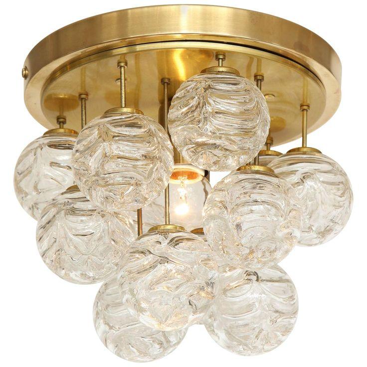Swirled Glass Ball Fixture by Doria