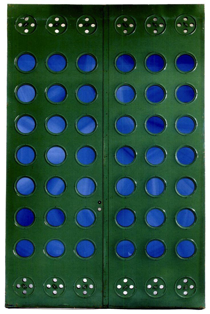 porte verte, Maisons Tropicales, Afrique. Manufactured by Ateliers Jean Prouvé, France, 1949