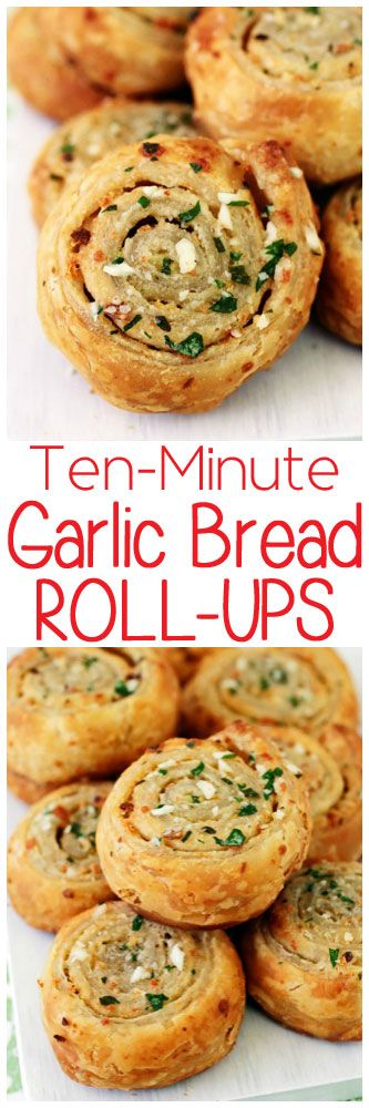 Just when you thought garlic bread couldn't get any better it's kicked up a notch with the addition of flaky, melt-in-your mouth puff pastry.
