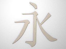 Chinesisches Zeichen Ewigkeit aus Edelstahl