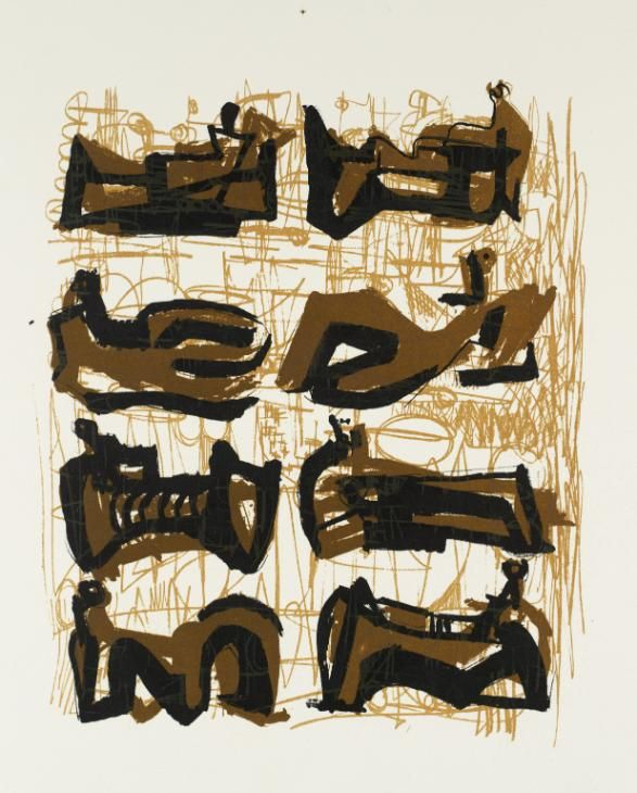 'Eight Reclining Figures',by Henry Moore OM, CH, 1958