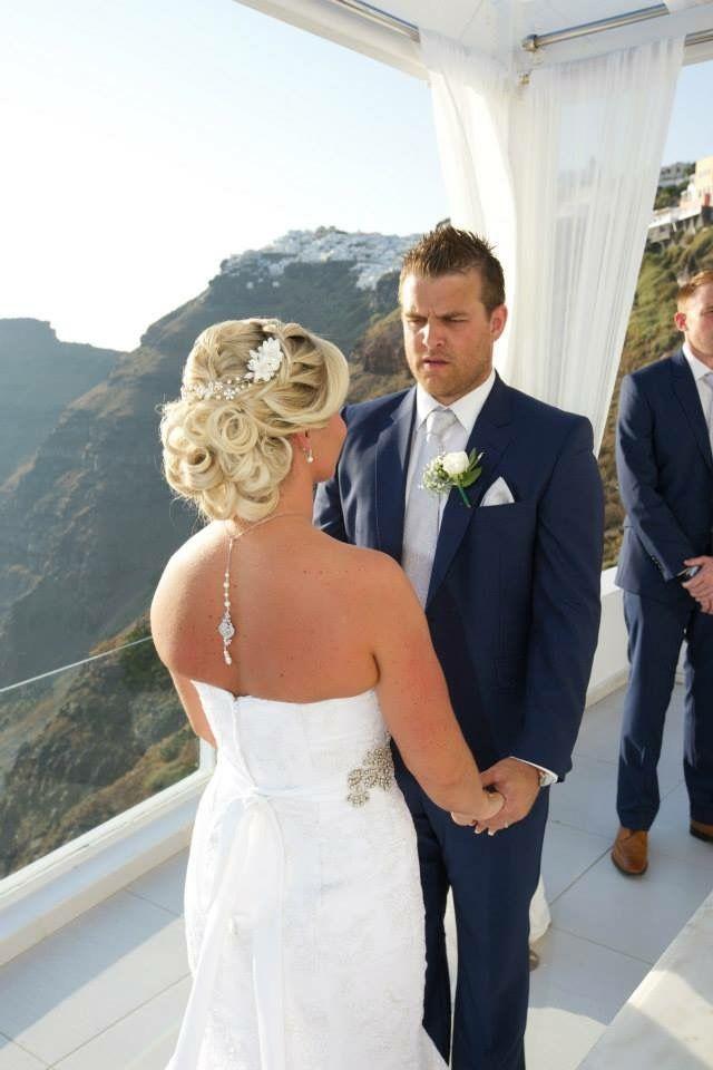 Helen savva bridal hair santorini