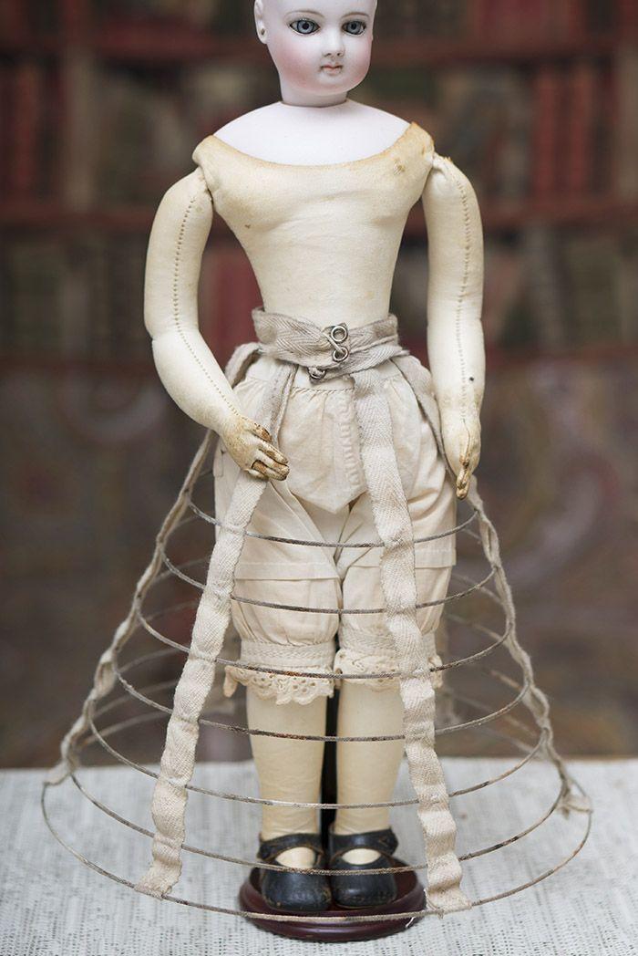 Antique Original Hoop Crinoline for French Fashion doll Antique dolls at Respectfulbear.com