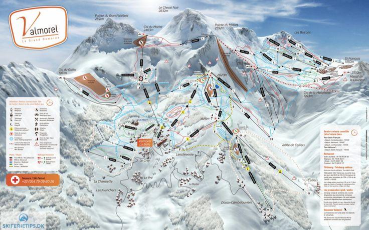 Valmorel Piste Map (High resolution / .JPEG) #skiing #valmorel #france