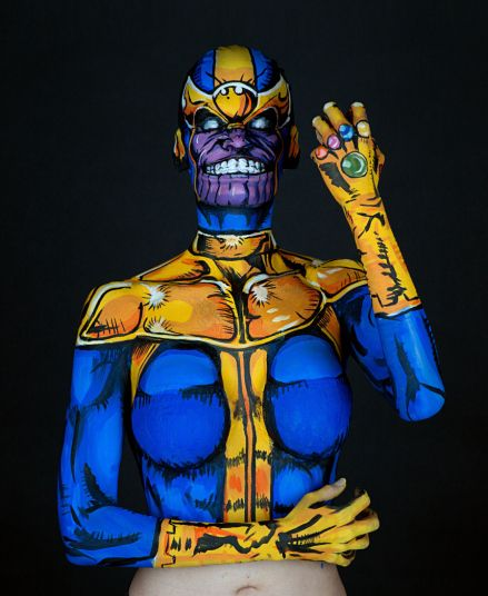 Cosplay bodypainter recreates comic characters and superheroes, in pictures #art #bodypaint