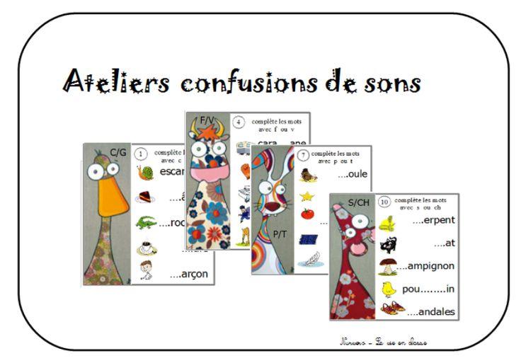 atelier confusions sons : écrire des mots
