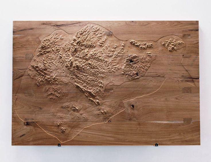 Wood Elevation Model : Topographic model elevation factor cnc