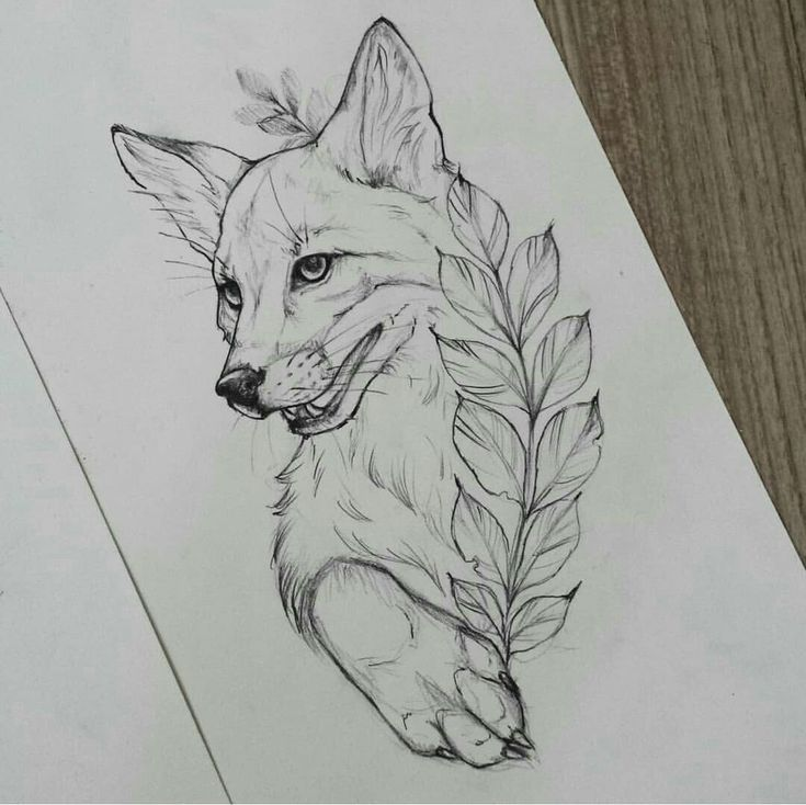 Fox Fox Tattoo Design