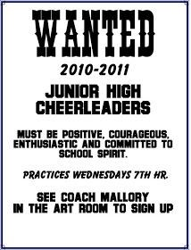 cheerleading tryout posters - Google Search