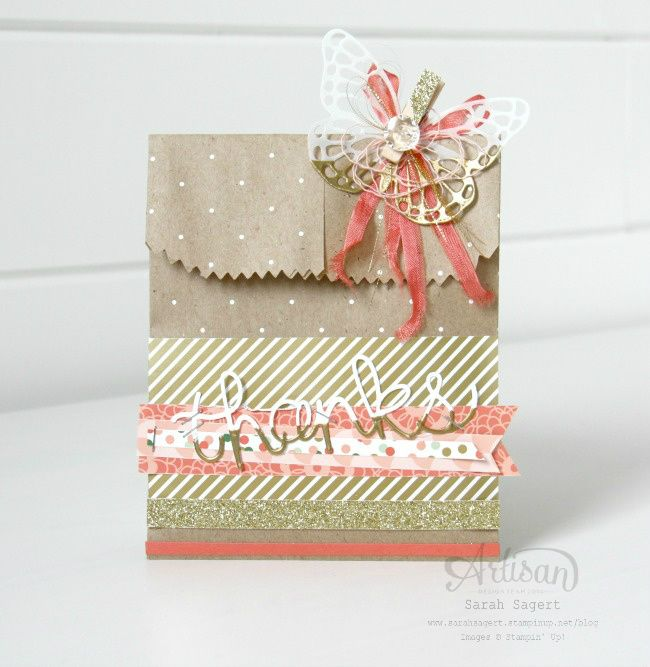Oh, how I love accessories! Stampin' Up! has such a beautiful assortment to choose from. ~ Sarah Sagert