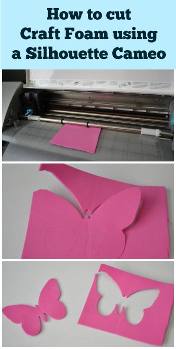 A how to for cutting craft foam with a Silhouette Cameo - includes blade settings and tips for cutting foam!