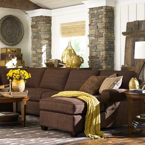 New Grey Trend Is Showingchocolate Brown Instead Of Orangey SectionalBrown SofaSectional SofasSectional Living RoomsCozy