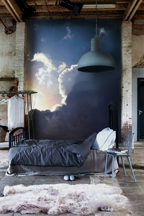For the closet wall/head of bed.  On sliding panels and headboard.