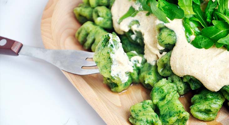 Gluten-Free Wild Garlic Gnocchi Gnocchi fara gluten cu leurda