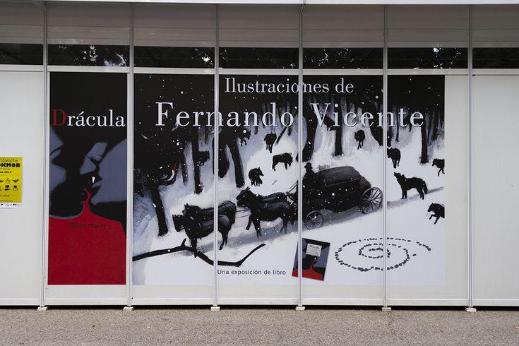 Exposición de Ilustraciones de Fernando Vicente para el libro de Drácula.