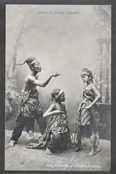 Wayang Petrok Dewie Srikandi Java Indonesia 1913