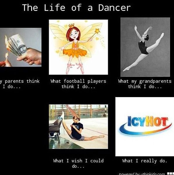 FYI for all you football players out there what we dancers do is just as hard as what you do. Oh and when you say dance isnt a sport thats true because its so unique and diffrent it has its own little thing.
