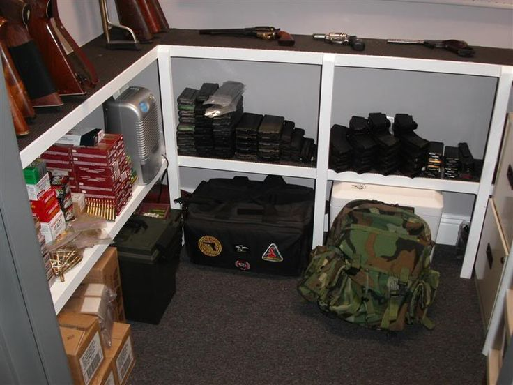 Gun safe room layout safe rooms pinterest safe room for Custom safe rooms