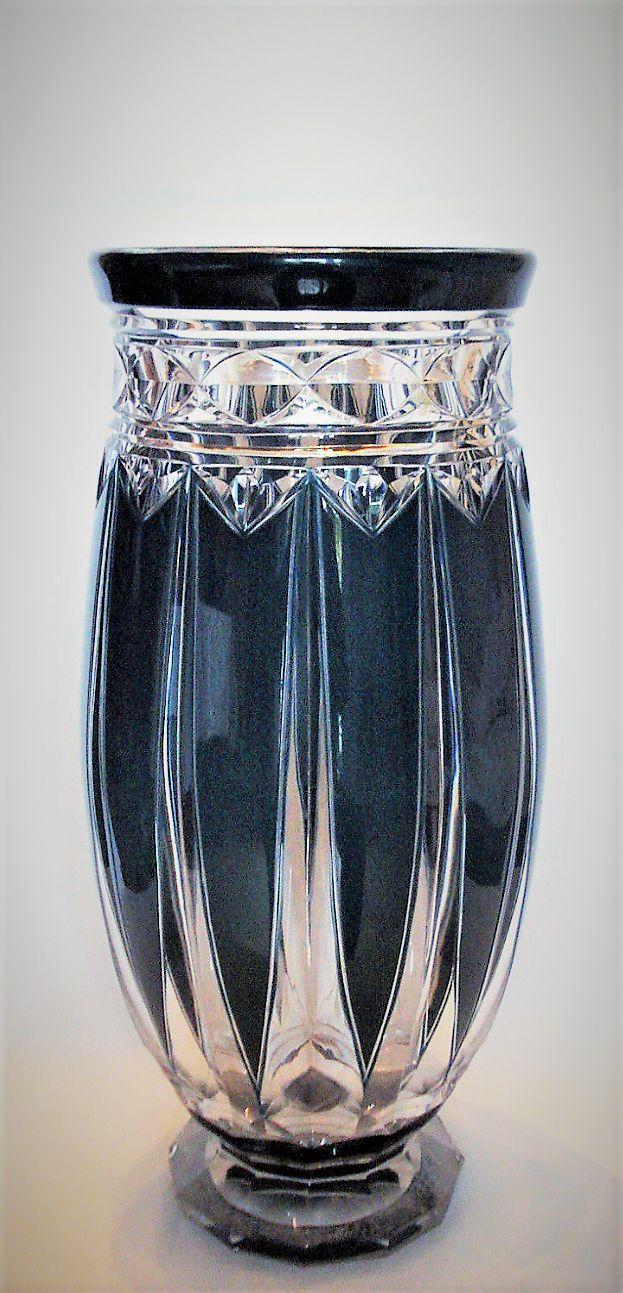 444 best val st lambert images on pinterest clear crystal val st lambert vase panama el78 cristal clair doubl bleu ptrole floridaeventfo Image collections