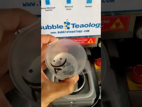 Yogurt Cup Sealer Machine - Custom Size Mold Plastic Seal Lid Machine