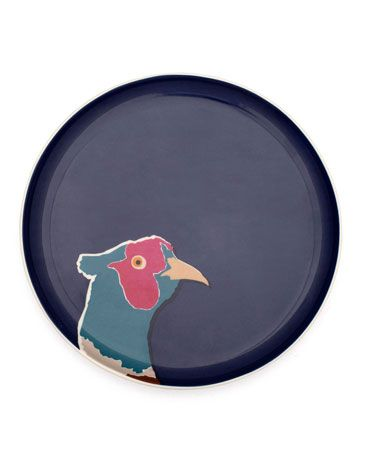 Joules Side Plate, Pheasant.                     Set a smaller snack down in style by giving it pride of place on this plate that's bursting with country charm and character.