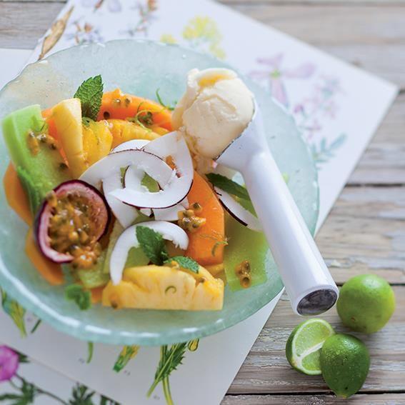Tropical fruit salad | Tropiese vrugteslaai