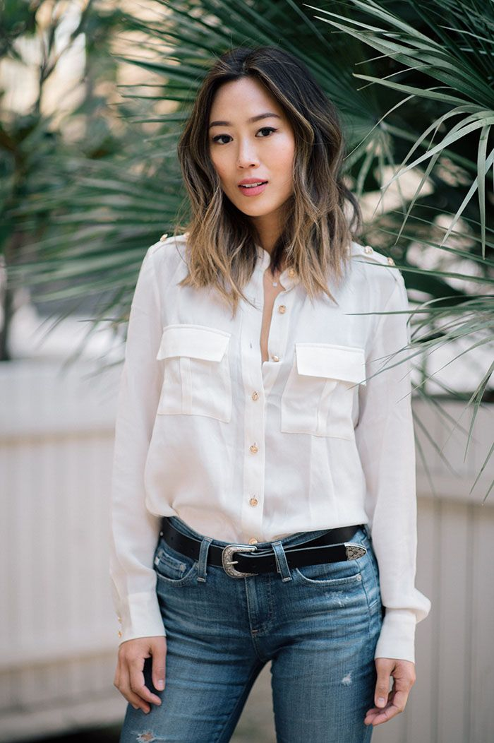 aimee song of style wearing rochas and topshop at petit palais in paris
