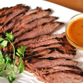 Smoky Mustard Flank Steak, from ATCO Blue Flame Kitchen.