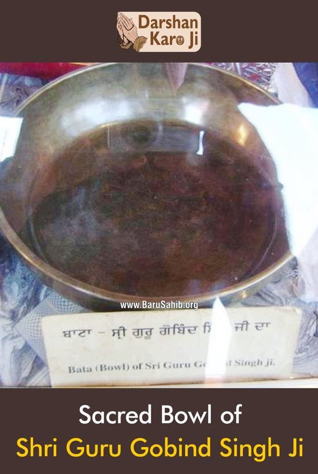 #DarshanKaroJi Sacred Bowl of Guru Gobind Singh Ji! Share & Spread the divinity!