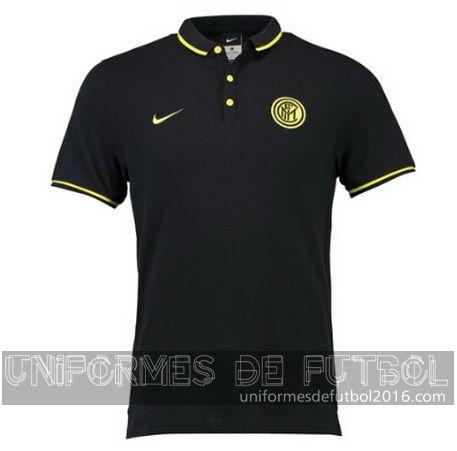 Camisetas polo negro Inter Milan 2015-16  | uniformes de futbol economicos