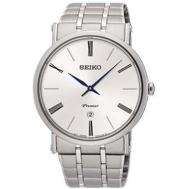 Seiko White Dial Mens Dress Watch SKP391P1