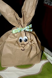 easter bunny gift bag- we don't do easter bunny, tooth fairy, santa ,etc.  but these are still cute and the kids would love to make them
