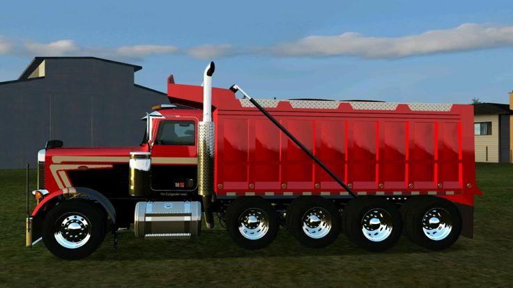 Peterbilt Quad Axle Dump Truck