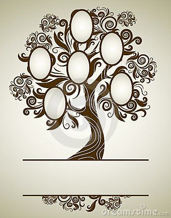 Vector Family Tree Design With Frames Royalty Free Stock Image - Image: 16066316