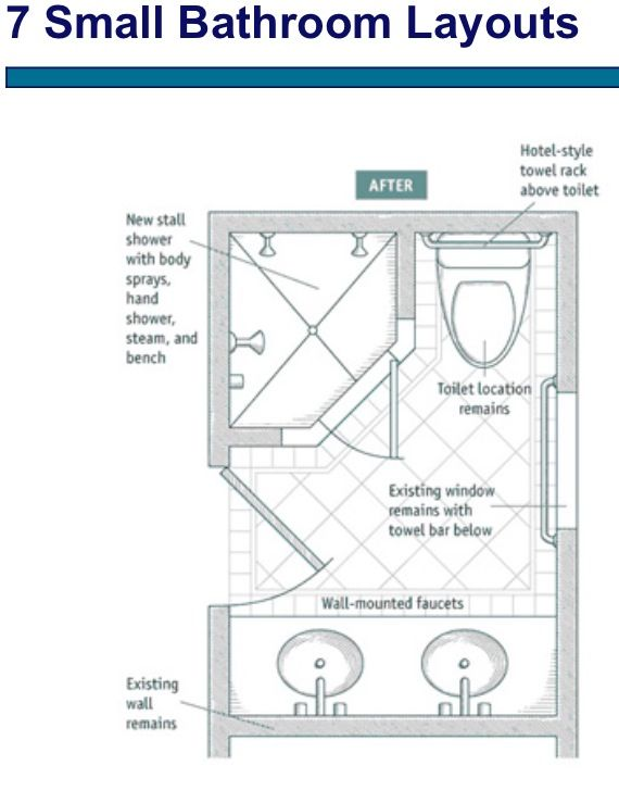 Small Bathroom Layout Pinterest