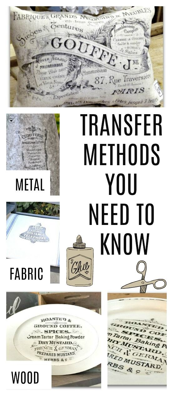 Six transfer methods that will help you create something new from a thrift store find. Homeroad.net
