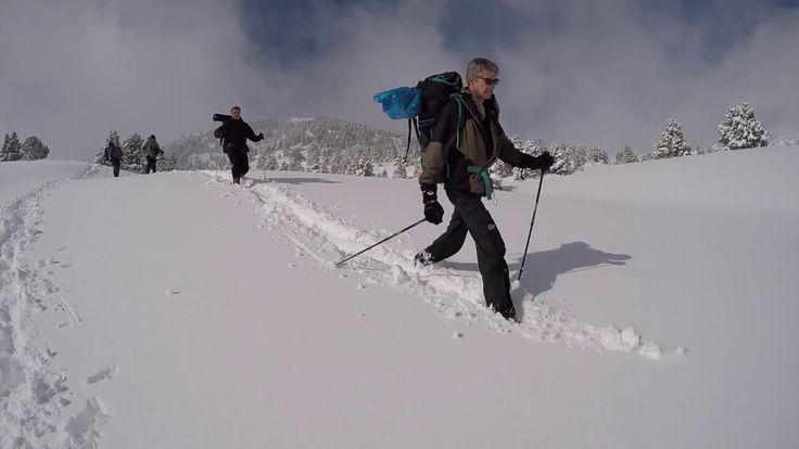 Randonnée en raquettes autour du Mont Aiguille dans le  massif du Vercor...