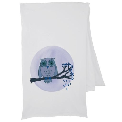 Owl in the Blue Moonlight. Scarves