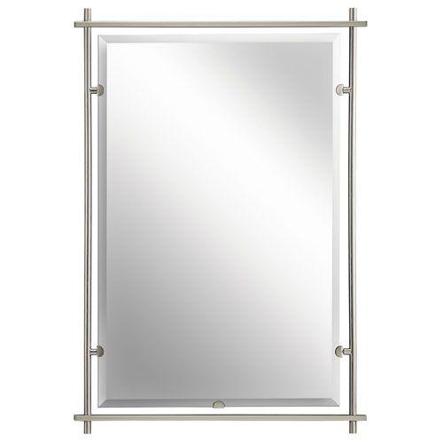 Eileen Brushed Nickel Mirror Kichler Rectangle Mirrors Home Decor