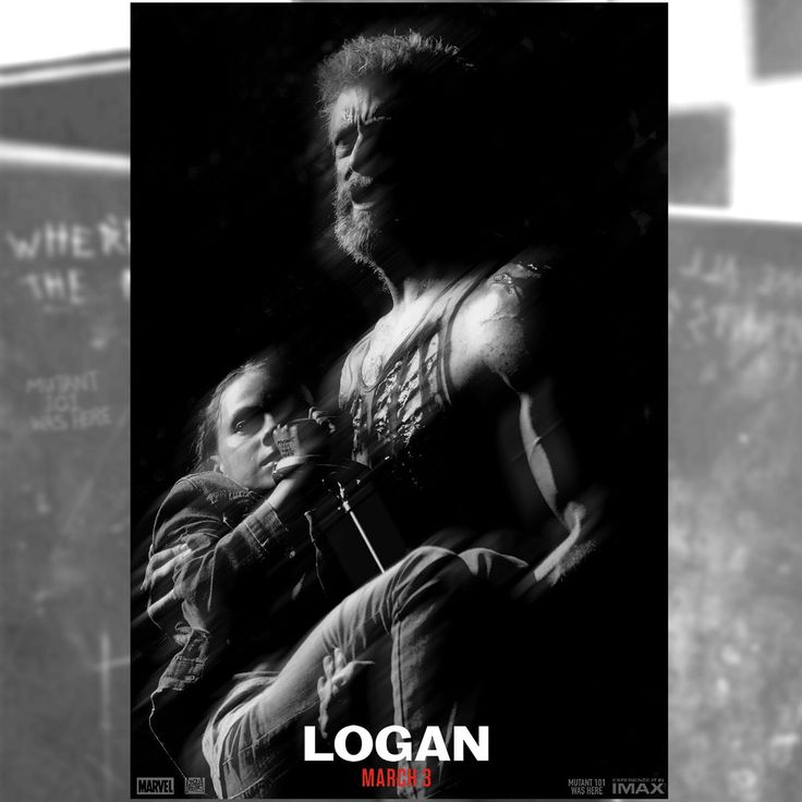 A wounded logan tries to get laura to safety
