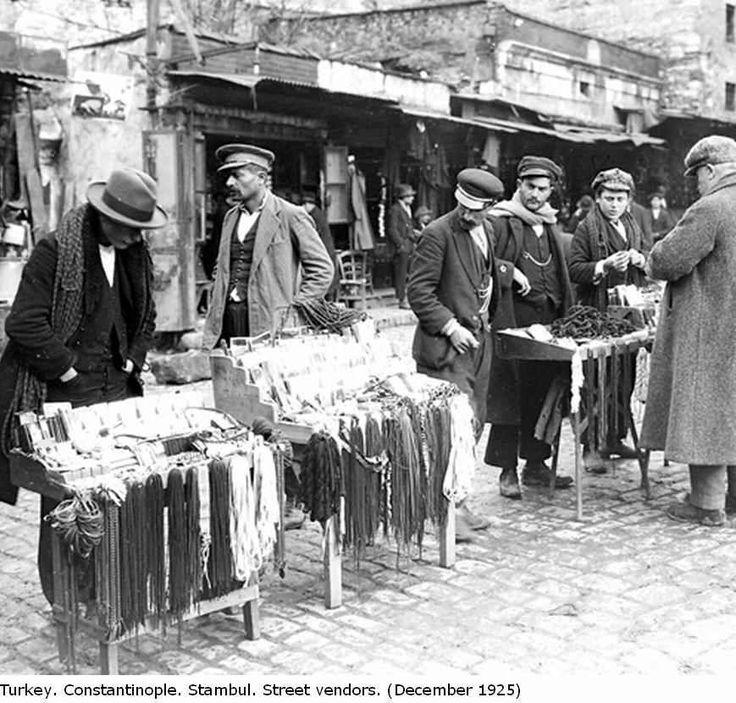Street vendors, Constantinople, december 1925