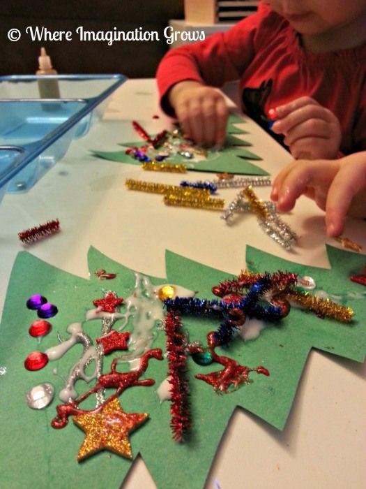 colagem natal arvore1 Atividades de Artes de Natal para Educação infantil natal   Atividades para Educacao Infantil