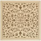 World Rug Gallery Manor House Black/Floral 7 ft. 10 in. x 10 ft. 2 in. Area Rug-7861 - The Home Depot