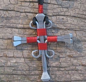 Horseshoe Nail Cross Necklace, Jewelry :: Necklaces :: Clickin Cowgirls