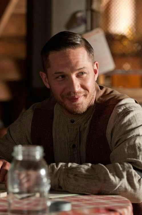 Lawless--this smile was very rare in this movie...