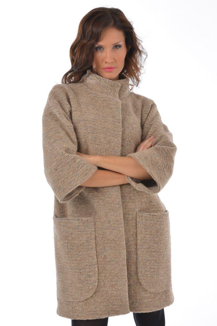 Женское вязаное пальто (129 фото) 2016: с капюшоном, для полных, длинное, с чем носить, стильное
