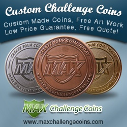 Custom Challenge Coins is a quality manufacturer of Custom Challenge Coins. We Make Quality Custom Coins with optional features and free artwork. Order Your Challenge Coins today with Free Shipping.