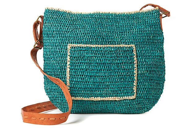 Crocheted Cross Body, Aqua on OneKingsLane.com